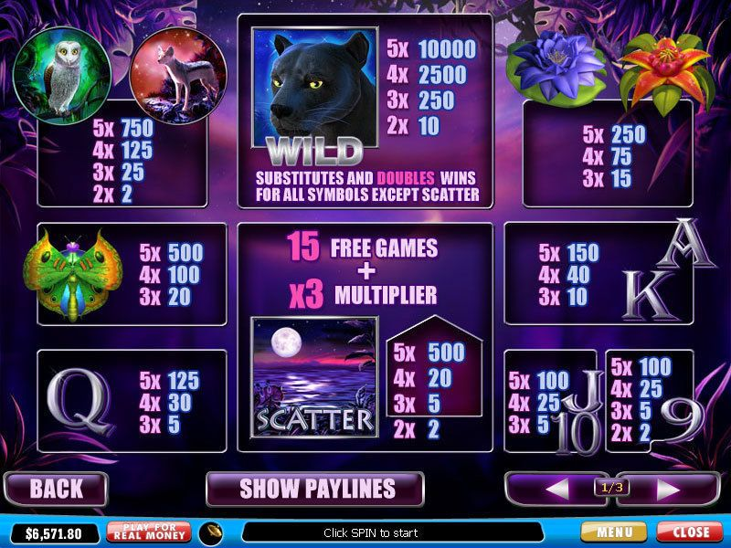 panther moon playtech slot 2295